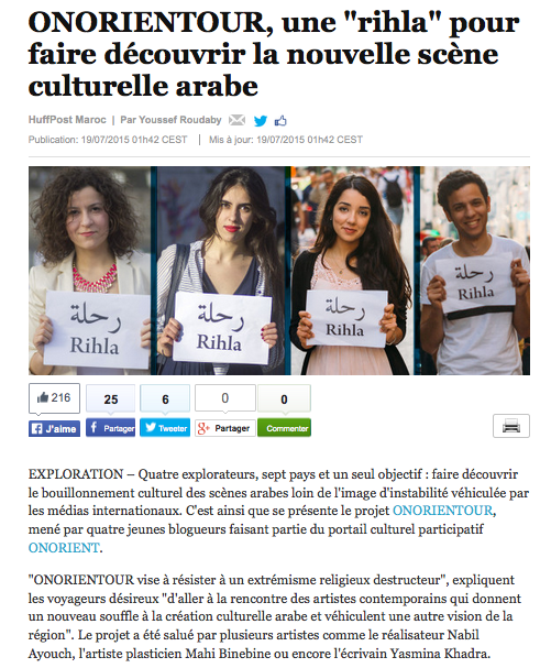 Huff post Onorientour