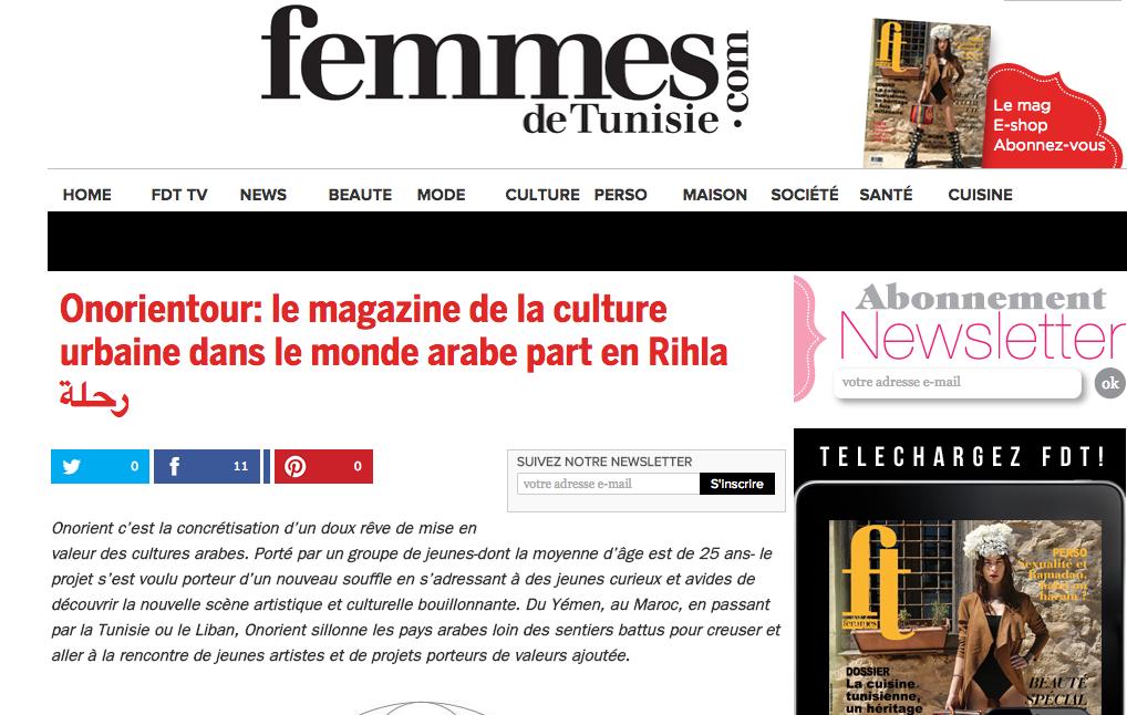 Femme de Tunisie Onorientour