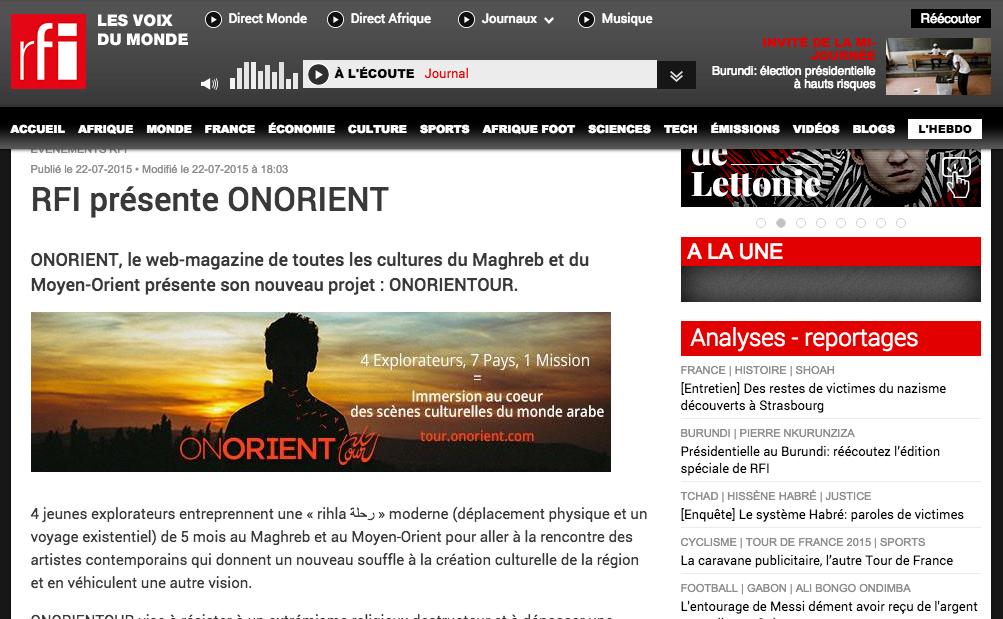 RFI ONORIENTOUR