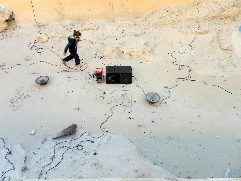 Leurre liquide (installation sonore aux piscines romaines de Gafsa)